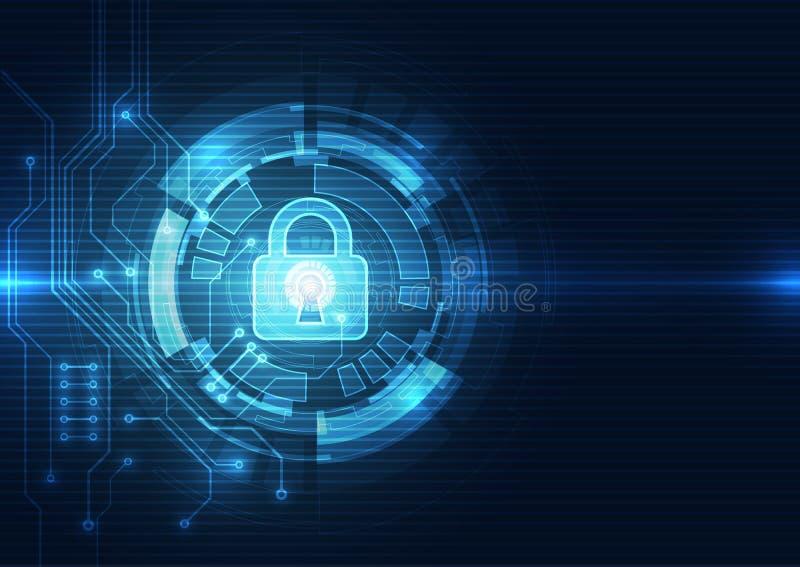 Fondo abstracto de la tecnología digital de la seguridad vector del ejemplo stock de ilustración