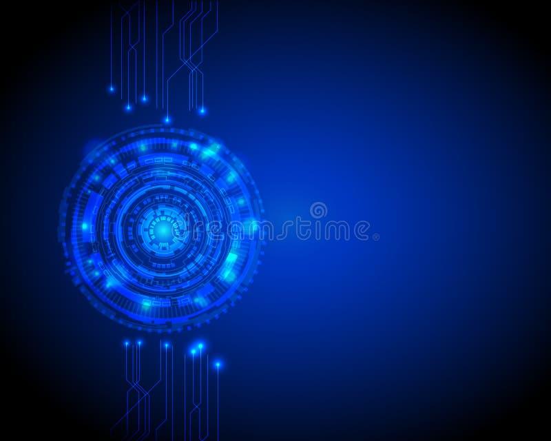 Fondo abstracto de la tecnología digital del círculo con el espacio trasero, diseño futurista del fondo del concepto de los eleme libre illustration