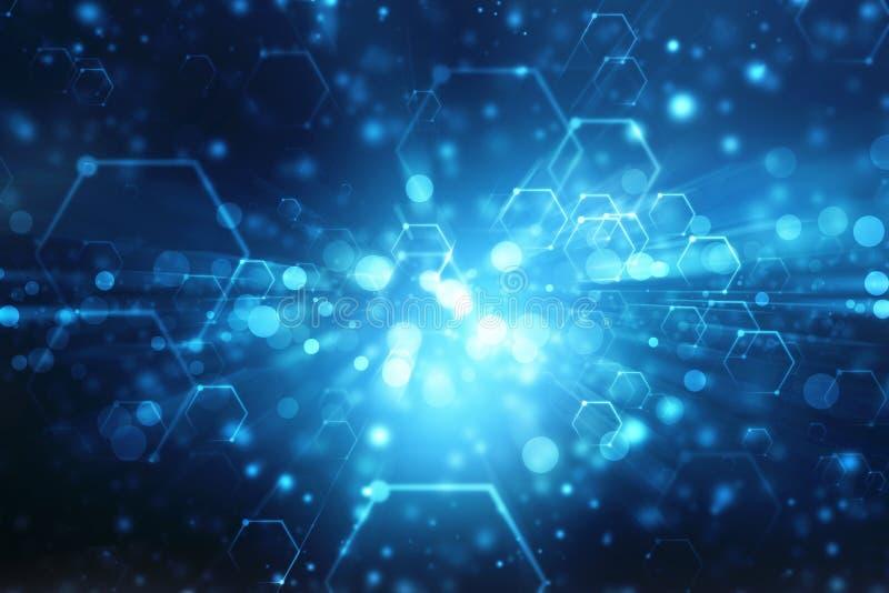 Fondo abstracto de la tecnología, fondo futurista, concepto del ciberespacio libre illustration