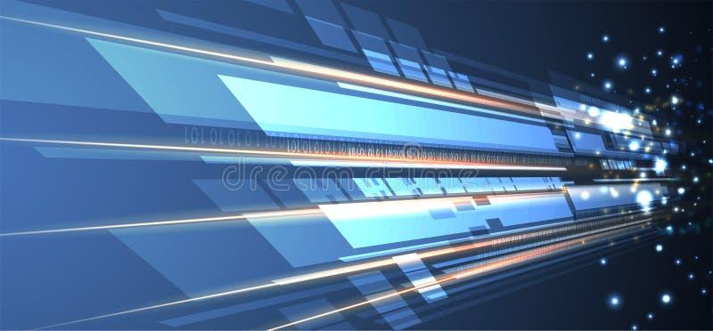 Fondo abstracto de la tecnología Interfaz futurista de la tecnología libre illustration