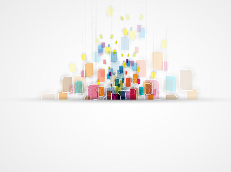 Fondo abstracto de la tecnología Interfaz futurista de la tecnología stock de ilustración