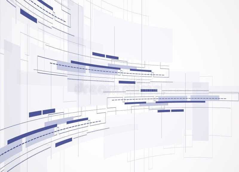 Fondo abstracto de la tecnología Interfaz futurista de la tecnología Vecto libre illustration