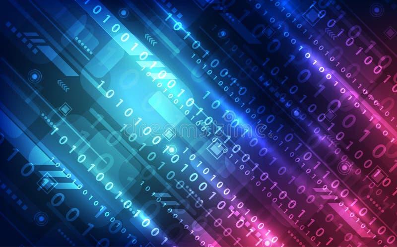 Fondo abstracto de la tecnología Interfaz futurista de la tecnología de sistema digital con formas geométricas stock de ilustración