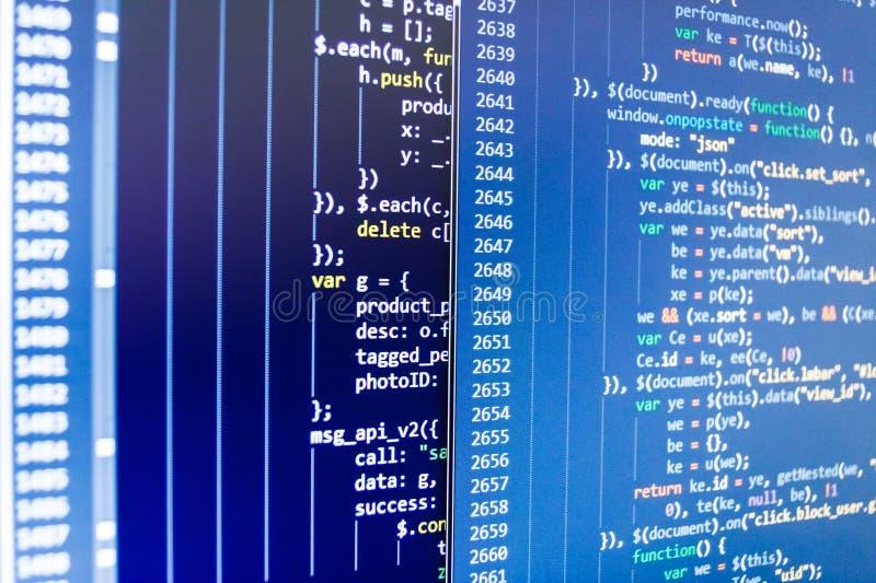 Fondo abstracto de la tecnología de las TIC Edificio móvil del app Concepto abstracto programado del algoritmo del flujo de traba imagenes de archivo