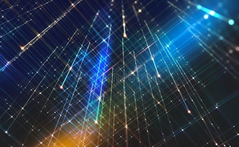 Fondo abstracto de la tecnología Tecnologías futuristas en la comunicación global ilustración del vector