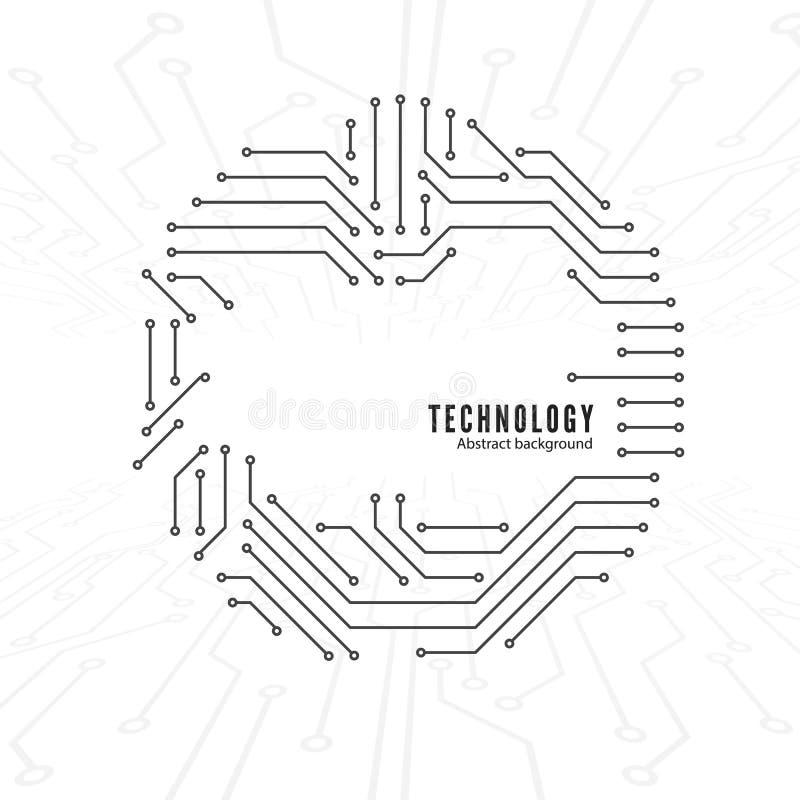 Fondo abstracto de la tecnología Textura del circuito Conexiones del circuito Ilustración del vector ilustración del vector