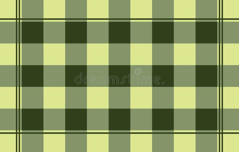 Fondo abstracto de la tela escocesa stock de ilustración