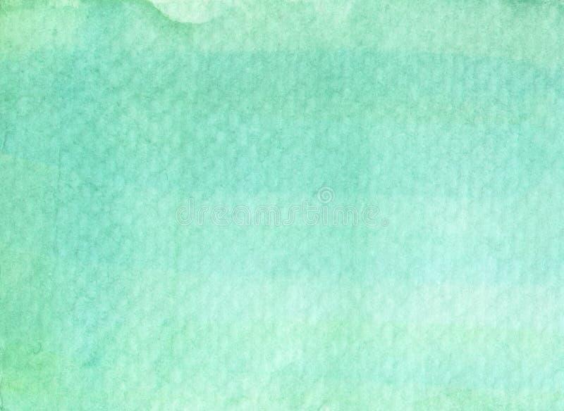 Fondo abstracto de la textura de la acuarela del verde menta libre illustration