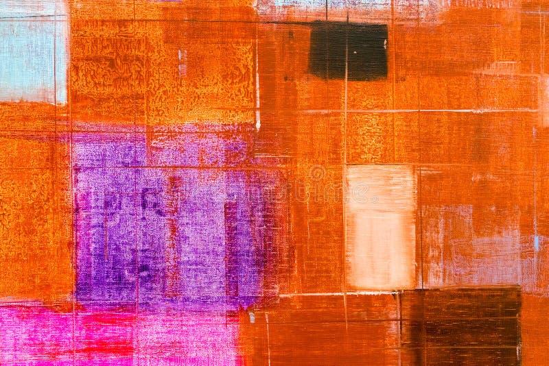 Fondo abstracto de la textura de la pintura al óleo stock de ilustración
