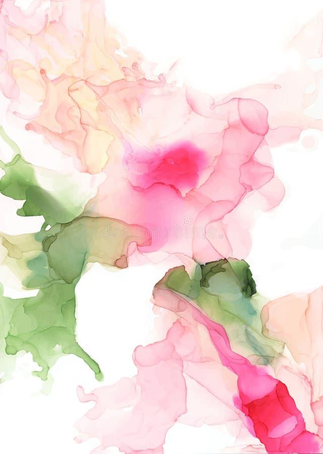 Fondo abstracto de la tinta del color libre illustration