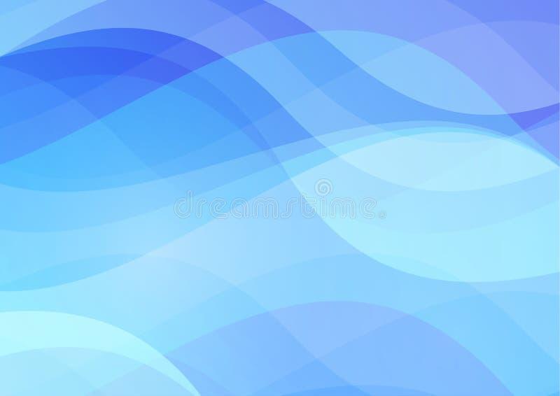 Fondo abstracto de las aguas azules libre illustration