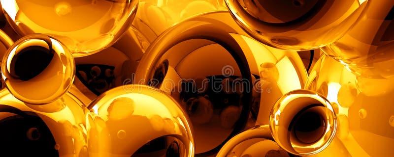 Fondo abstracto de las bolas 3D libre illustration