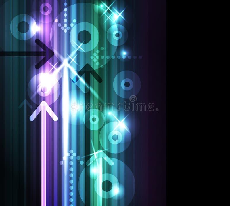 Fondo abstracto de las flechas. libre illustration
