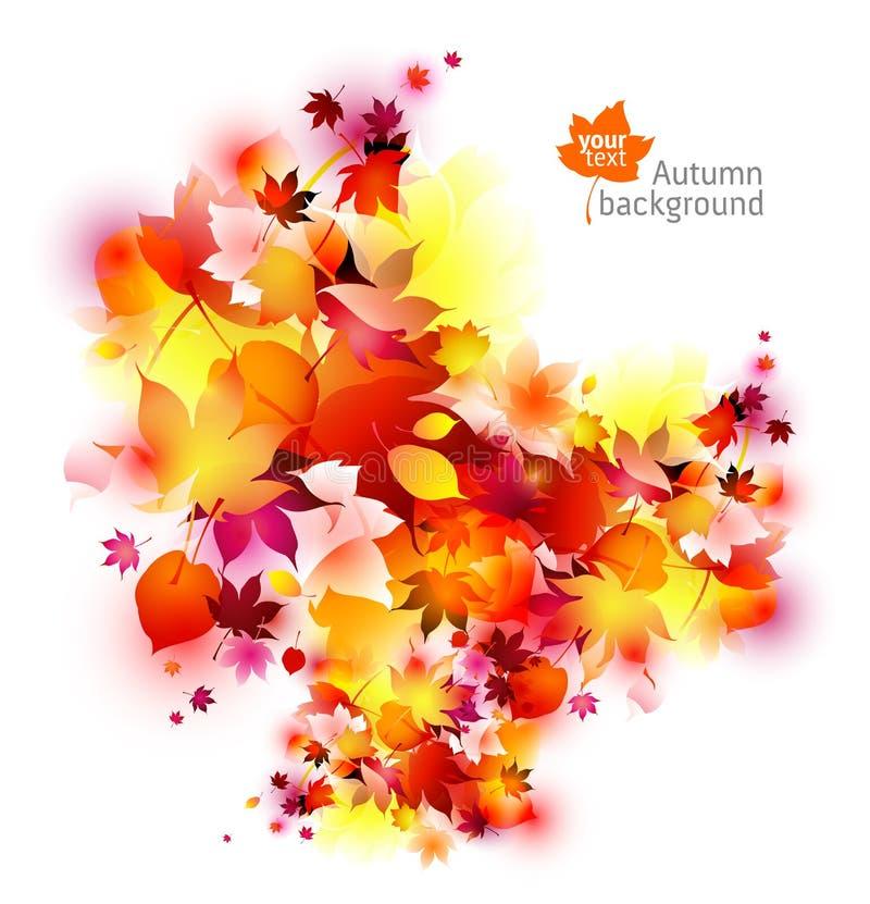 Fondo abstracto de las hojas de otoño ilustración del vector
