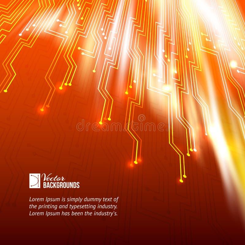 Fondo abstracto de las luces anaranjadas. ilustración del vector