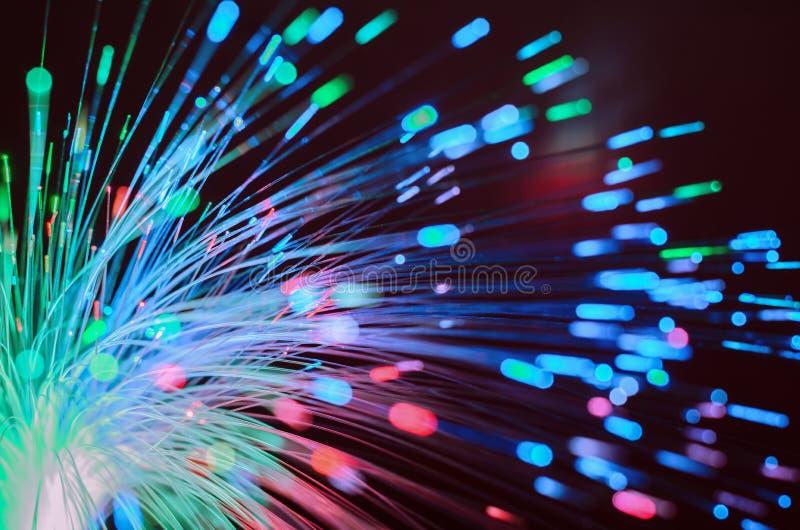 Fondo abstracto de las luces de las fibras ópticas imagen de archivo libre de regalías