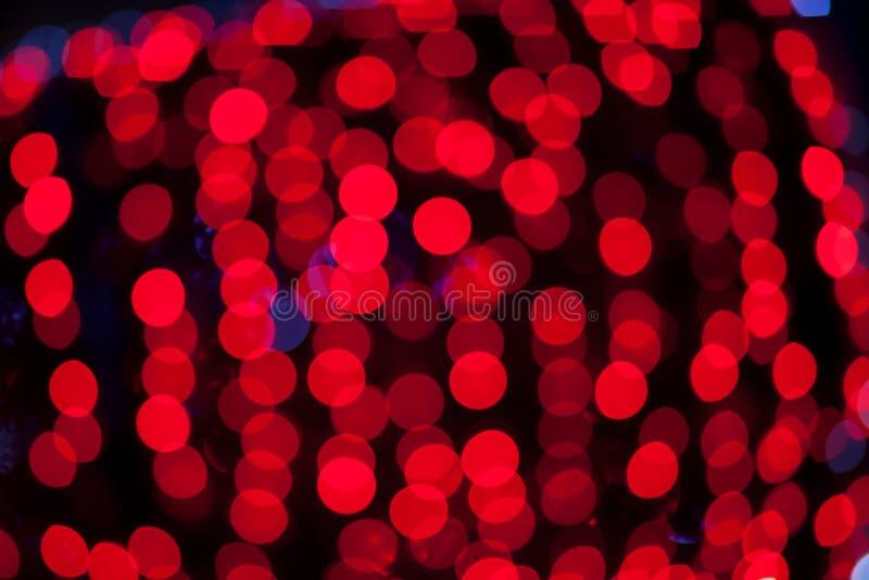Fondo abstracto de las luces rojas fotografía de archivo