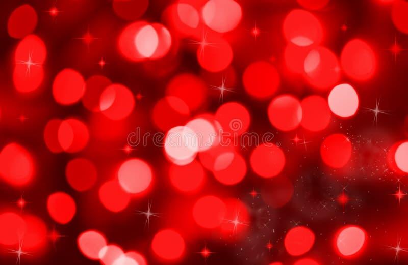 Fondo abstracto de las luces rojas del día de fiesta