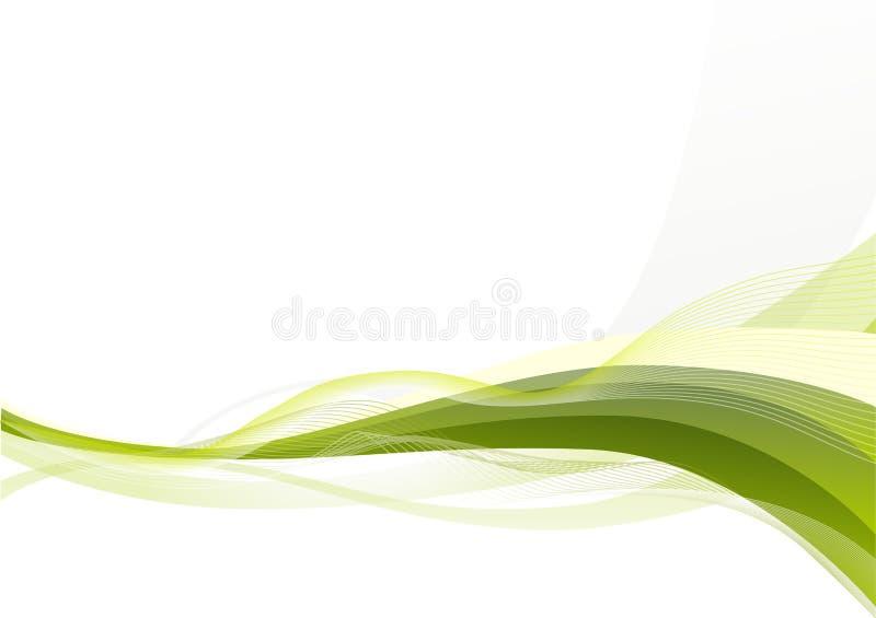 Fondo abstracto de las ondas verdes libre illustration