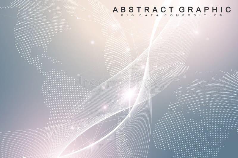 Fondo abstracto de las tecnologías nanas Concepto cibernético de la tecnología Inteligencia artificial, realidad virtual, biónica libre illustration