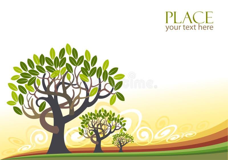 Fondo abstracto de los árboles - estilizado ilustración del vector