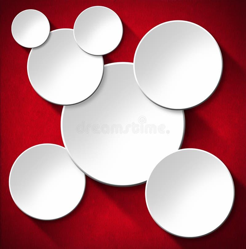 Fondo abstracto de los círculos - terciopelo rojo ilustración del vector