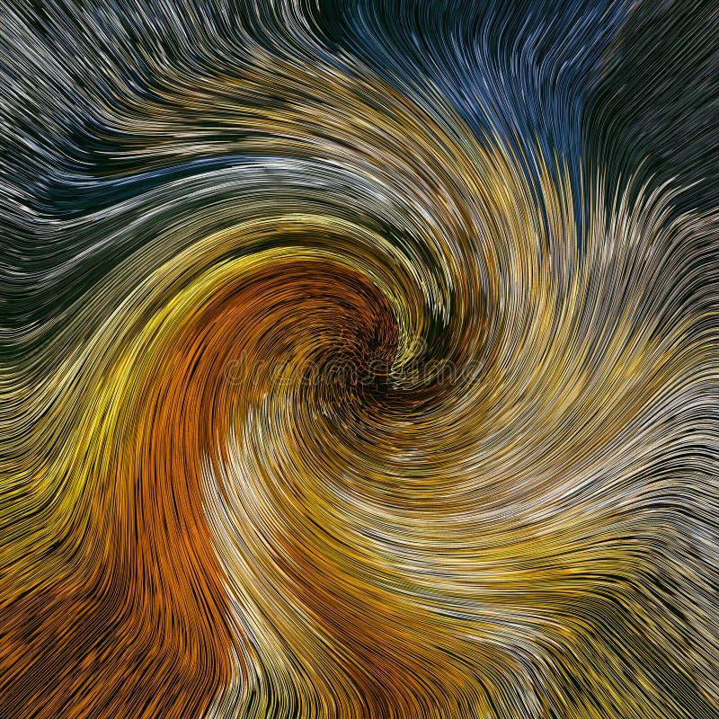 Fondo abstracto de los colores del giro stock de ilustración