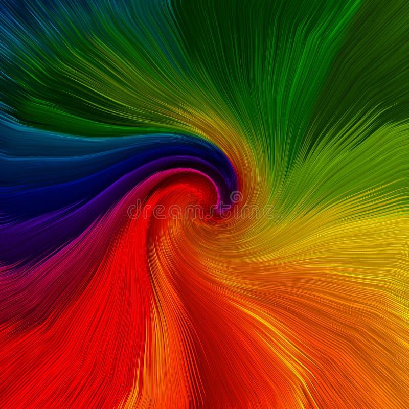 Fondo abstracto de los colores vibrantes del giro stock de ilustración