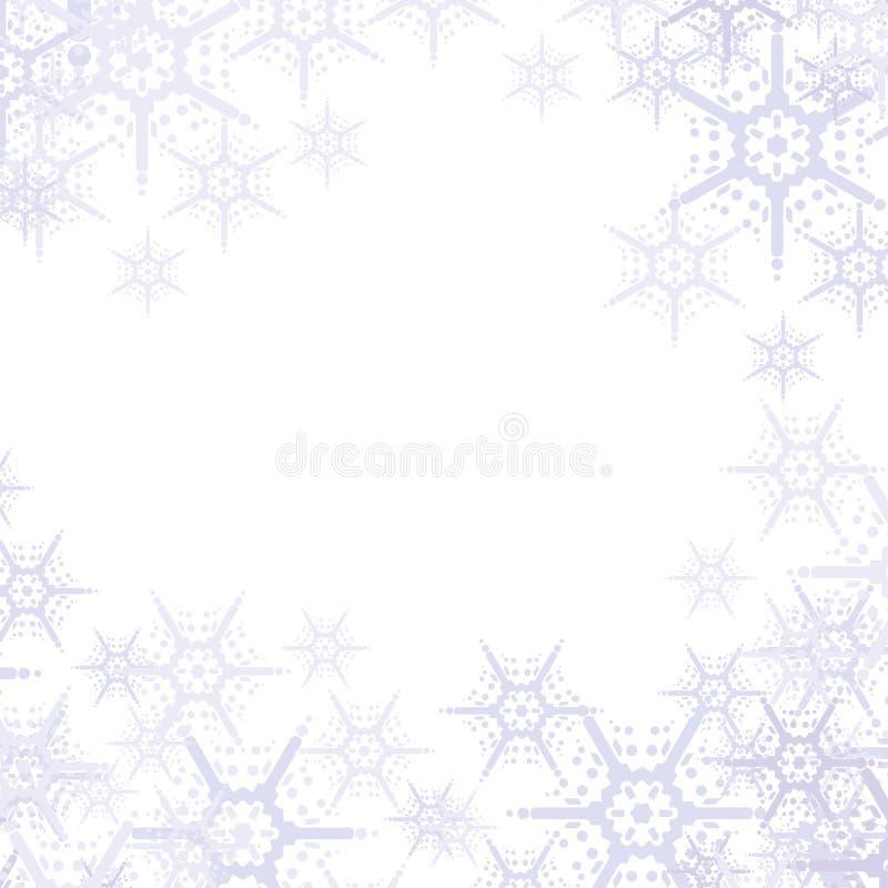 Fondo abstracto de los copos de nieve ilustración del vector