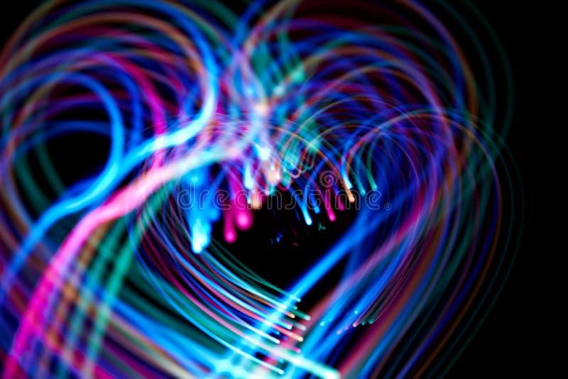 Fondo abstracto de los corazones foto de archivo