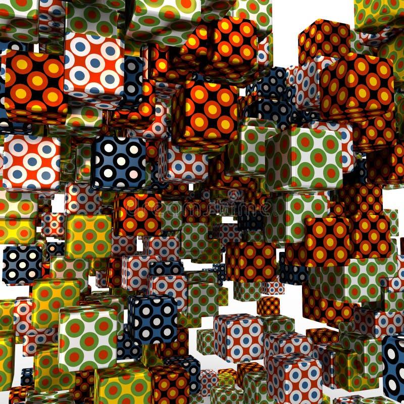 Fondo abstracto de los cubos del vuelo libre illustration