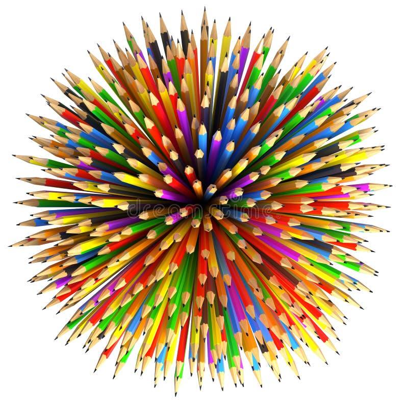 Fondo abstracto de los lápices ilustración del vector