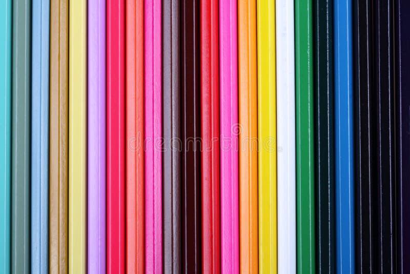 Fondo abstracto de los lápices multicolores imágenes de archivo libres de regalías