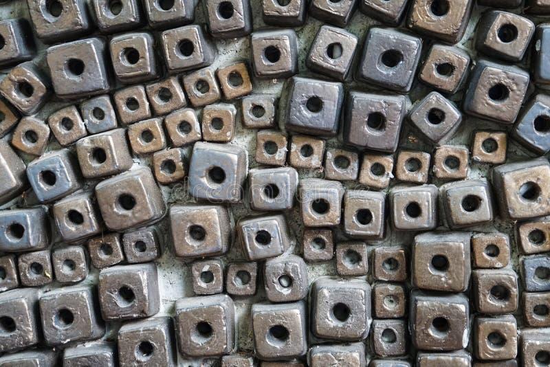 Fondo abstracto de los modelos de las baldosas cerámicas del bloque fotos de archivo