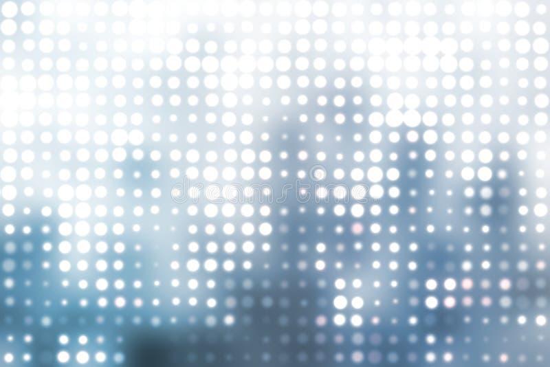 Fondo abstracto de los orbes de moda azules y blancos ilustración del vector