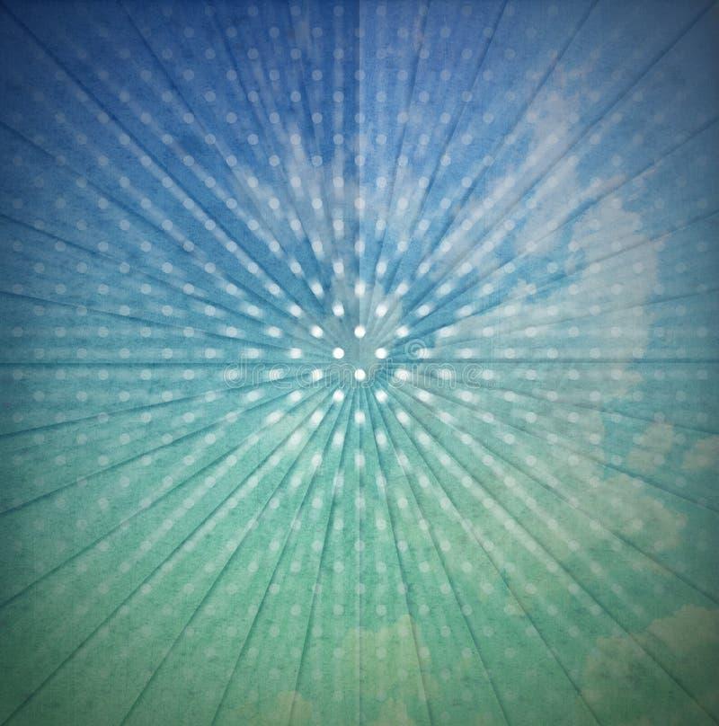 Fondo abstracto de los rayos de sol del vintage stock de ilustración