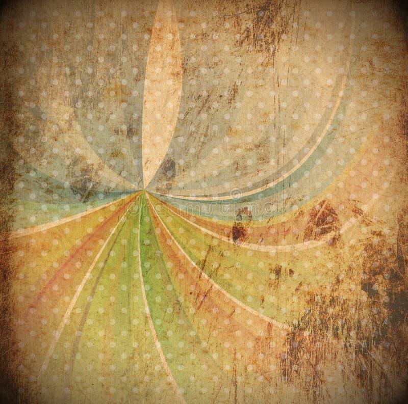 Fondo abstracto de los rayos de sol del vintage libre illustration