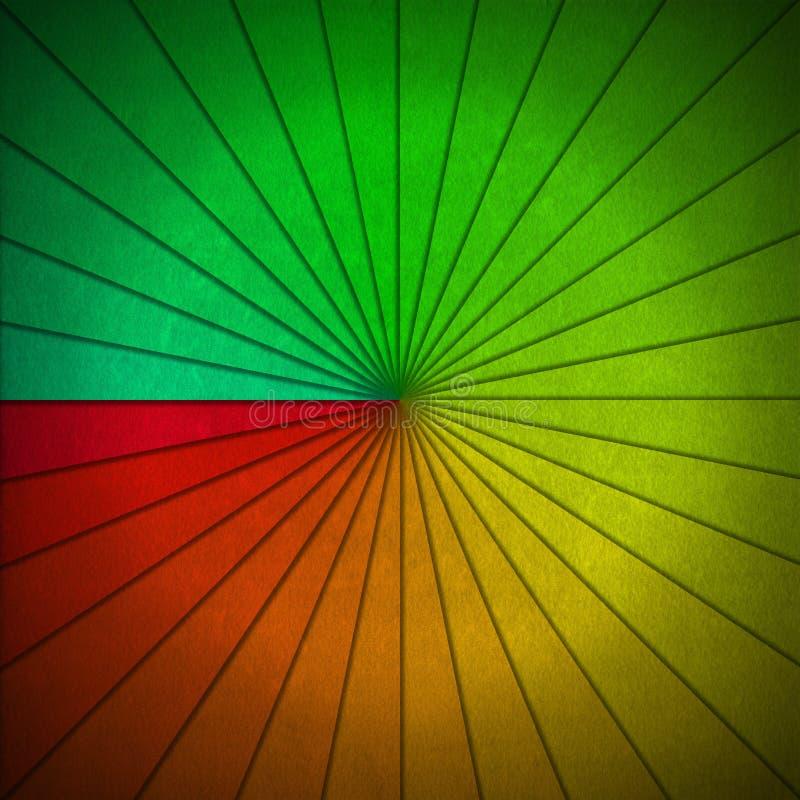 Fondo abstracto de los rayos de sol multicolores stock de ilustración