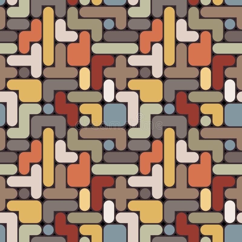 Fondo abstracto de los tetris del vector - seamle del vintage libre illustration