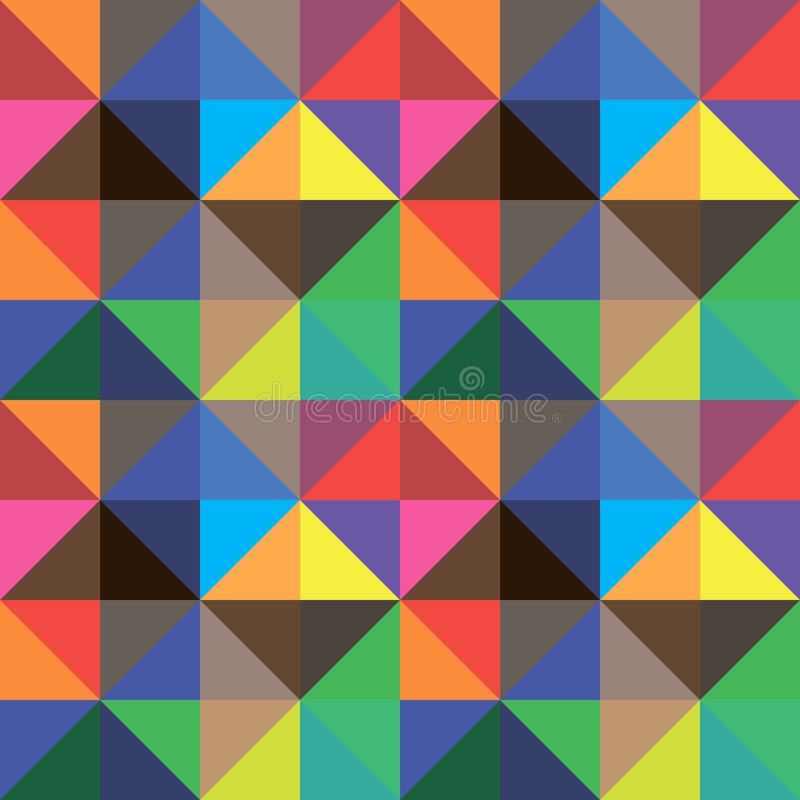 Fondo abstracto de los triángulos del color, diseño del vector stock de ilustración
