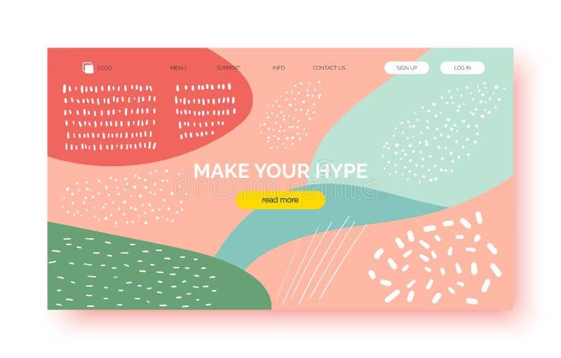 Fondo abstracto de moda, bandera para la presentación, página de aterrizaje, sitio web ilustración del vector