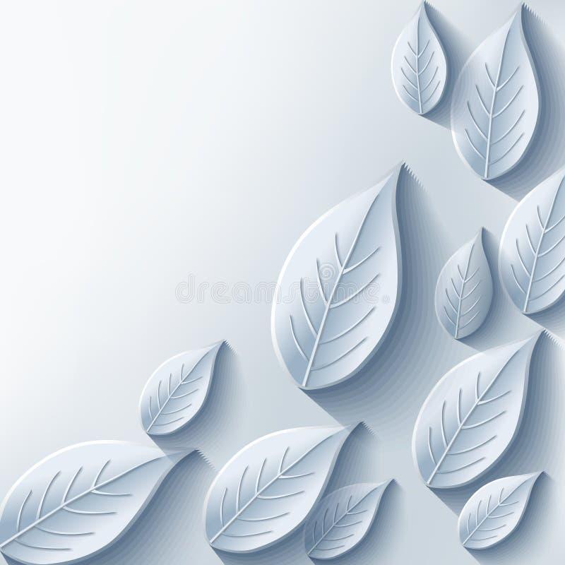 Fondo abstracto de moda con la hoja gris 3d stock de ilustración