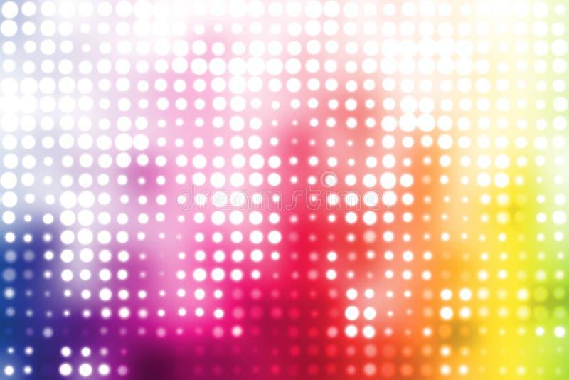 Fondo abstracto de moda del disco colorido del partido stock de ilustración