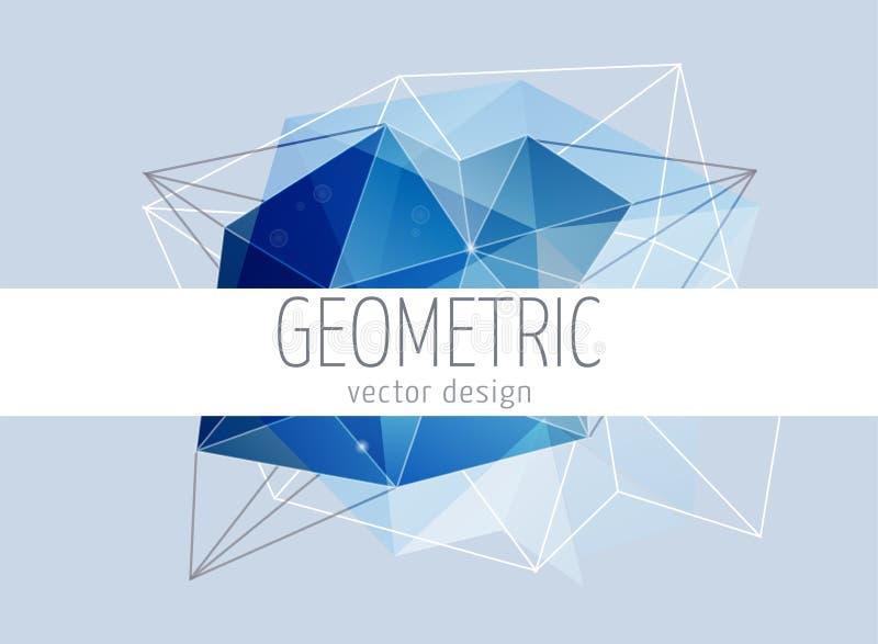 Fondo abstracto, de moda geométrico poligonal ilustración del vector