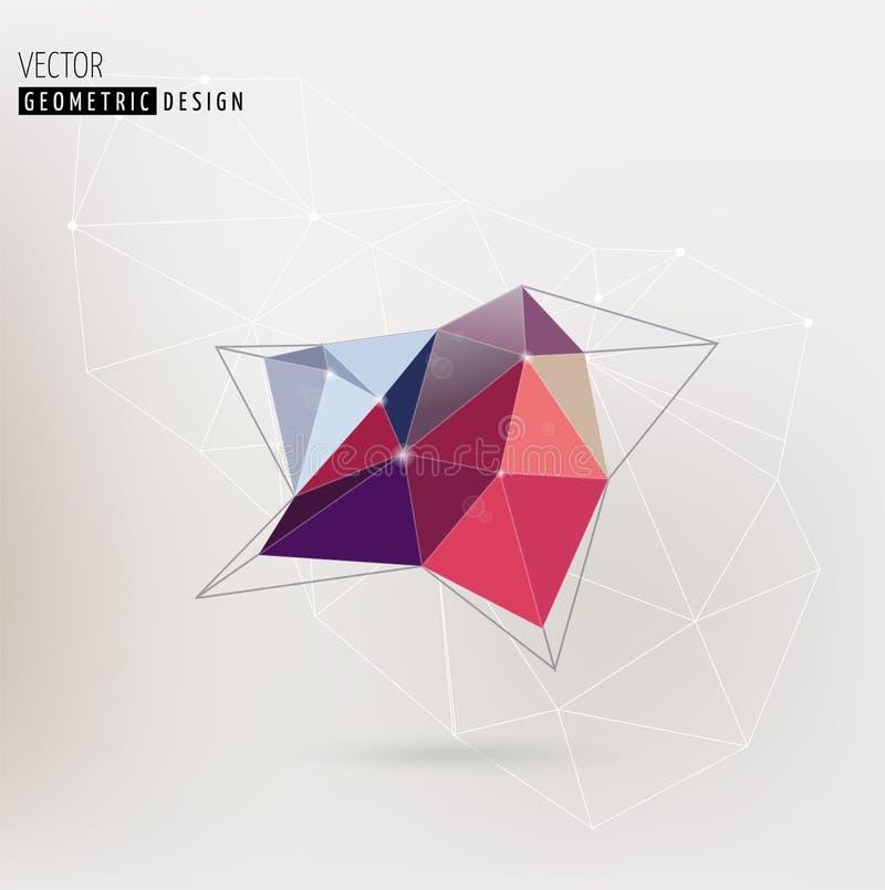 Fondo abstracto, de moda geométrico poligonal libre illustration