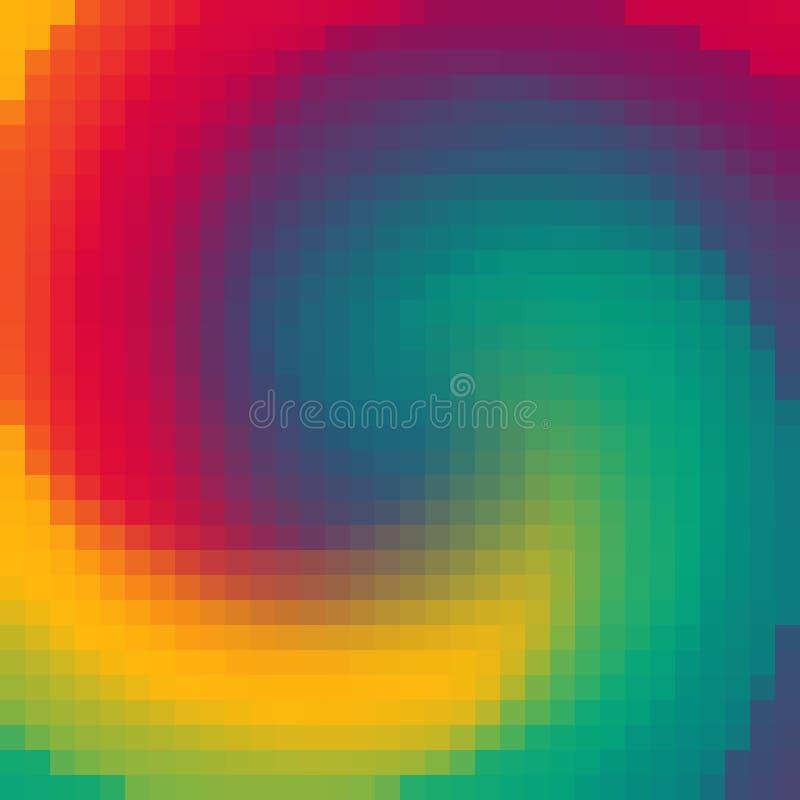 Fondo abstracto de muchos cuadrados Imagen de pixeles ilustración del vector