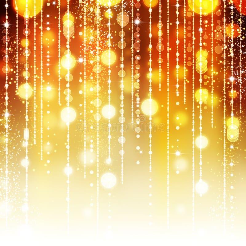 Fondo abstracto de oro del día de fiesta ilustración del vector