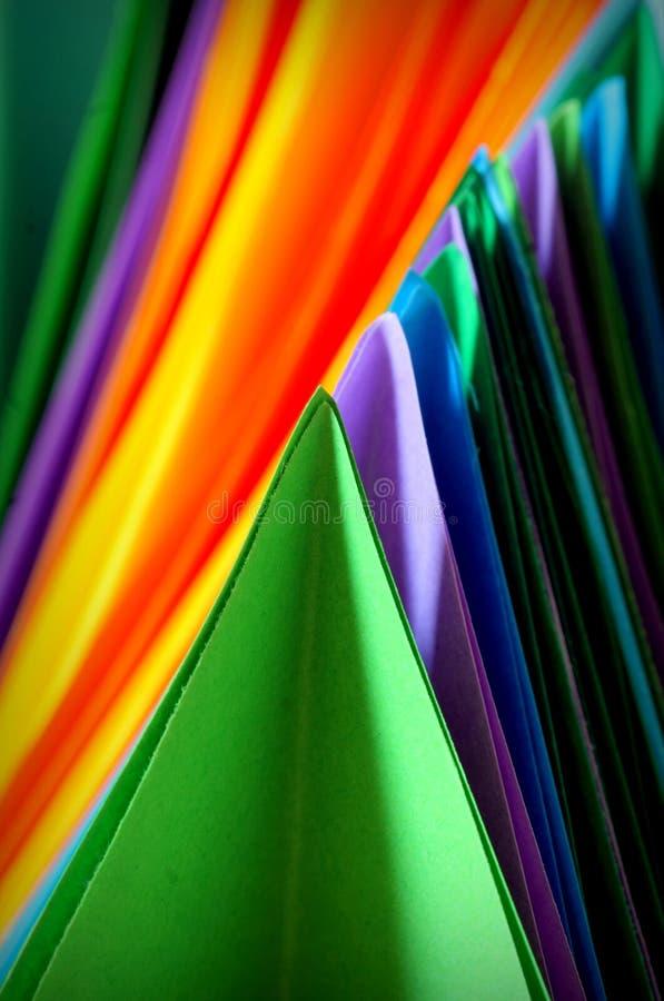 Fondo abstracto de papel colorido fotografía de archivo libre de regalías