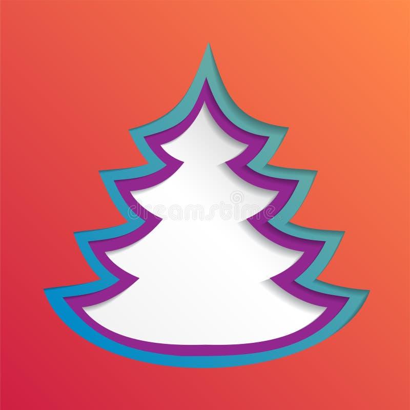 Fondo abstracto de papel creativo del árbol de navidad, ejemplo del vector eps10 ilustración del vector