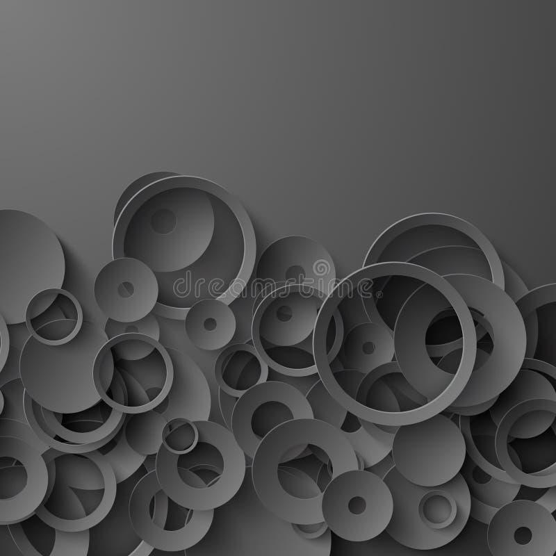 Fondo abstracto de papel negro stock de ilustración